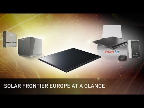 Solar Frontier Europe at a glance