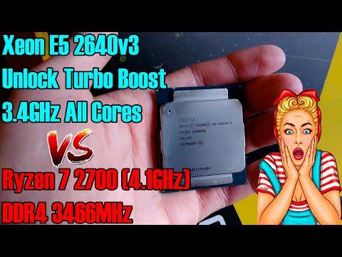 Лучший процессор для игр C анлоком турбо буста! Тест Xeon E5 2640v3, сравнение с Ryzen 7 2700