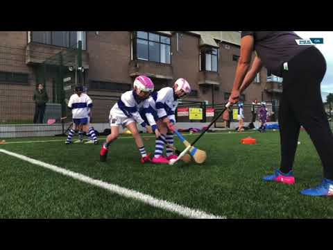 Hurling/camogie drills and skills for children.