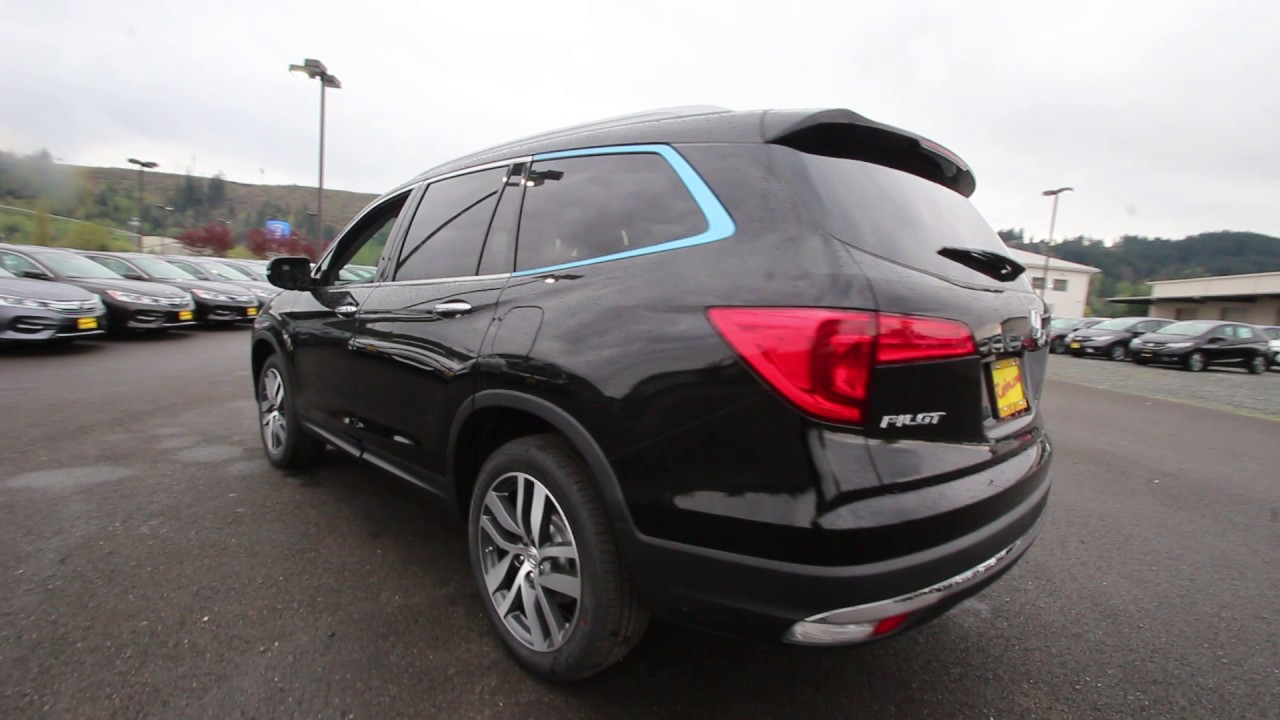 2017 honda pilot elite crystal black pearl hb025025 for Black honda pilot