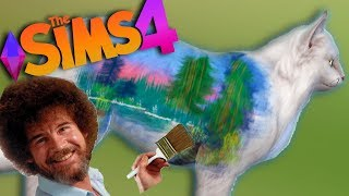 I Tried Following a Bob Ross Tutorial on a Sims 4 Cat