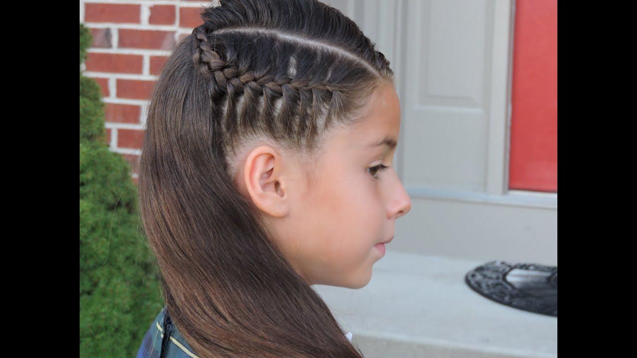 Peinado facil trenza lateral