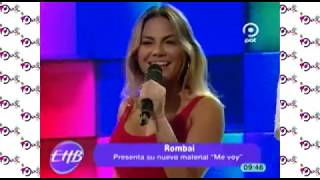 """Rombai Presenta Su Nuevo Material """"me Voy """"en El Escenario De En #enhorabuena"""