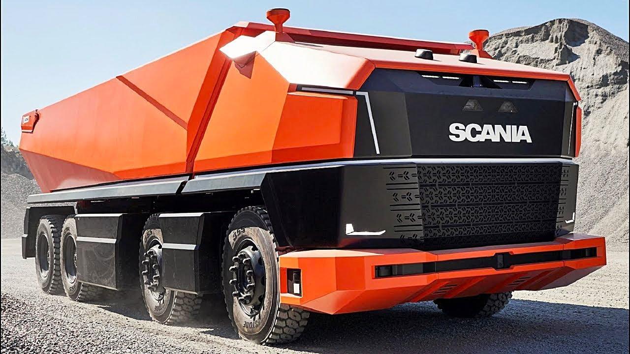Полностью автономный самосвал от Scania
