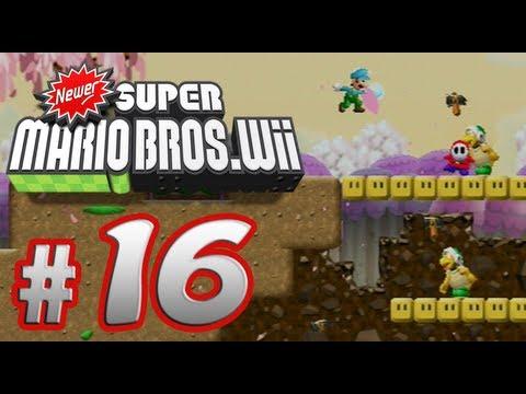 Newer Super Mario Bros. Wii - 100% Co-op Walkthrough Part 16