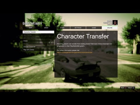 Gta 5 how to Open The Character Transfer (#PACHED 1.39)