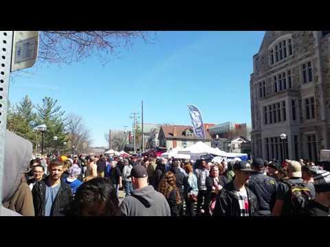walking around the Monroe Street Fair/Hash Bash- Ann Arbor, MI, 04.01.17