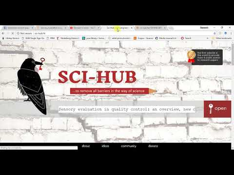 SCI-HUB NEW link for Downloading FREE Research articles