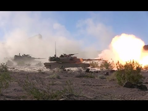 M1A1 Abrams Firing From Hull-Down Positions