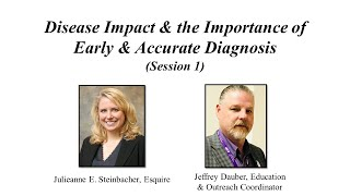 Alzheimer's Planning Session 1 – Disease Impact & the Importance of Early & Accurate Diagnosis