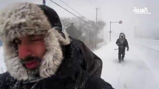 بالفيديو والصور.. سعوديان يسيران 16 يوما في عاصفة ثلجية في اليابان