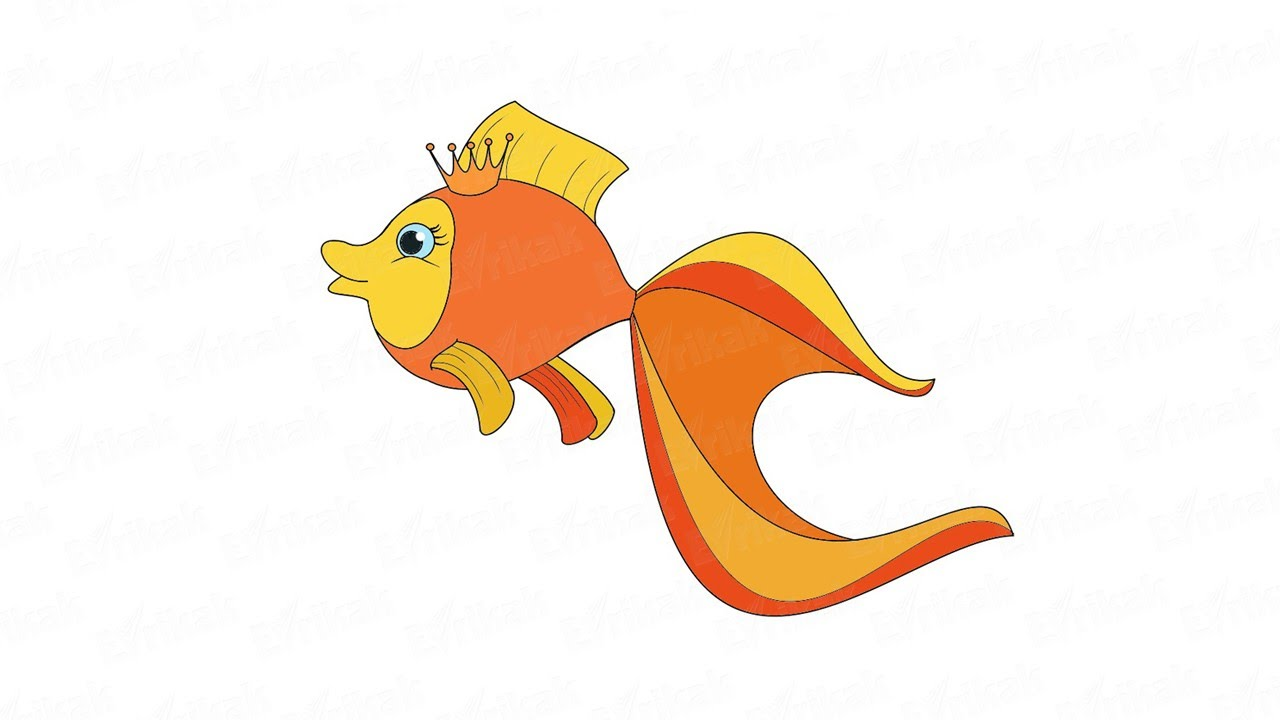 Картинок прикольных, рисунок золотой рыбки из сказки пушкина