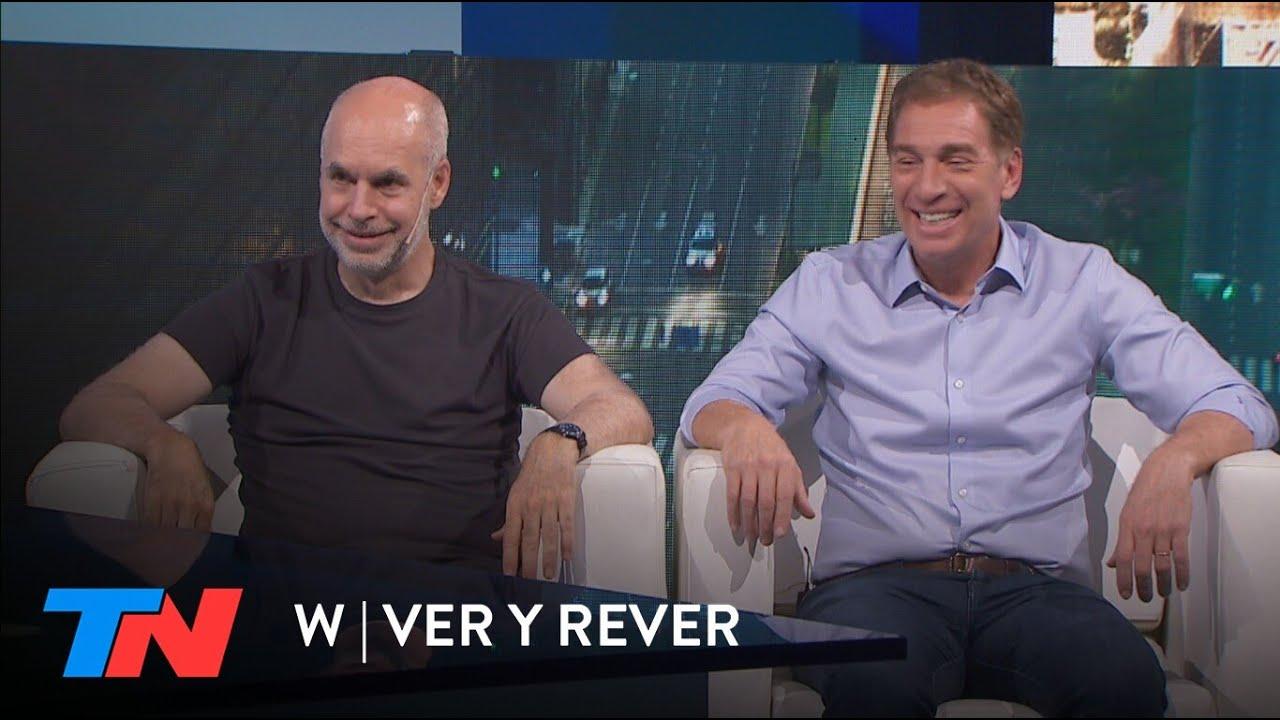 Larreta y Santilli en W Ver y Rever