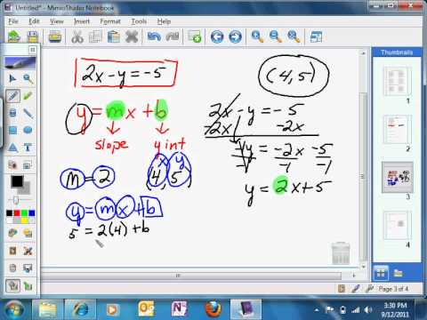 Write Equations In Standard Form Parallel Youtube