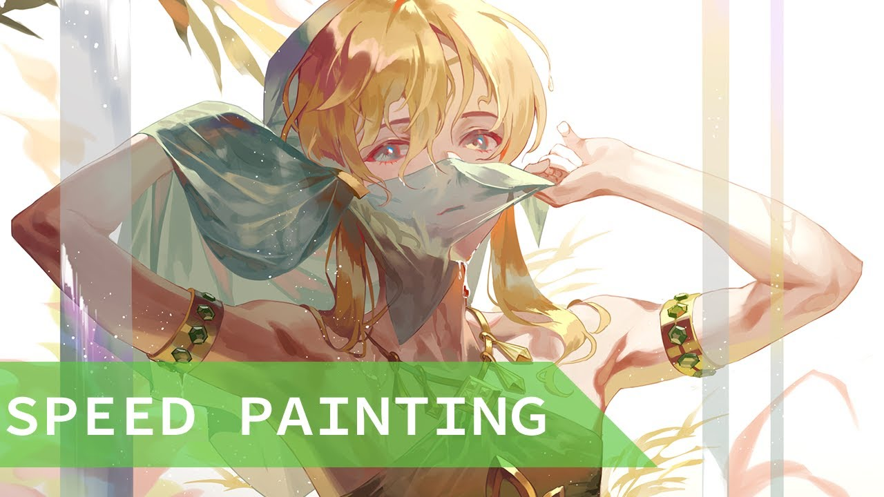 [speed painting] 숙녀의 옷 링크(gerudo outfit Link)
