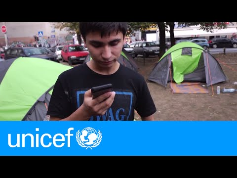 The first call home for an Afghan teen in Serbia | UNICEF