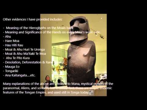 The ancient Tongan Empire, creator of Easter Island!