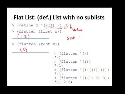 Racket Programming: Deep-list/List-of-list example: flatten