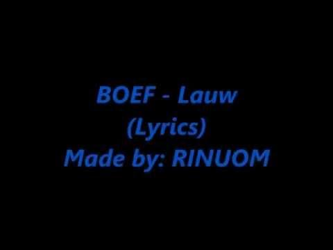 BOEF -Lauw (Lyrics)