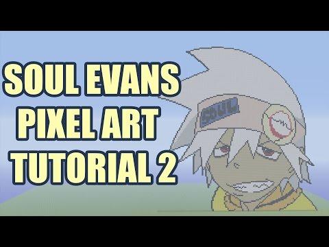 Minecraft Soul Evans Pixel Art Tutorial Part 2 (Soul Eater)