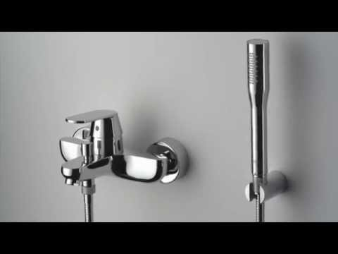 Смеситель однорычажный для ванны GROHE Eurosmart Cosmopolitan с душевым набором