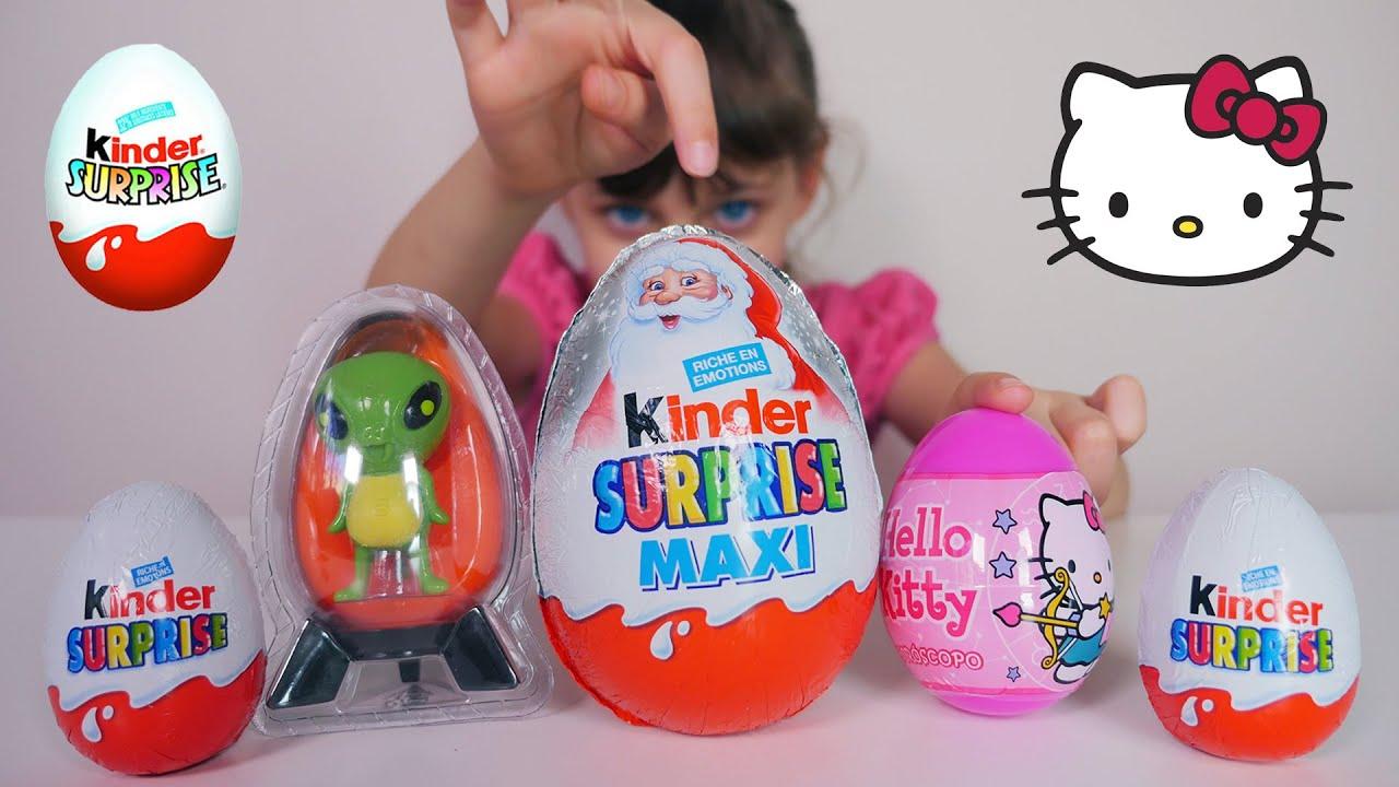 Kinder Noel OEUF & JOUET] Kinder Surprise Maxi Noël, Hello Kitty, Alien