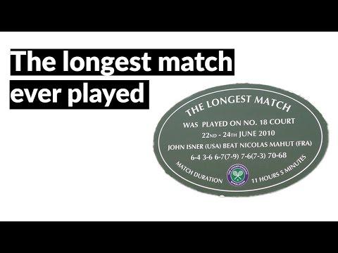 The longest Tennis match ever - John Isner and Nicolas Mahut