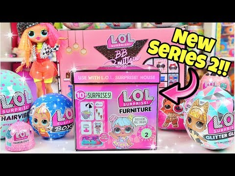 NEW!! Series 2 LOL Surprise Furniture!! With Exclusive Doll Bon Bon!