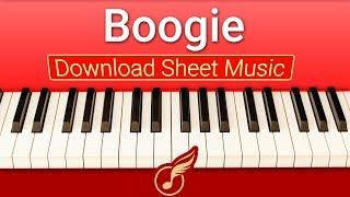 [Ноты фортепиано] для начинающих 'Boogie' | Музыкальная Академия Глория