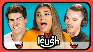 YouTubers React To Try To Watch This Without Laughing or Grinning #6