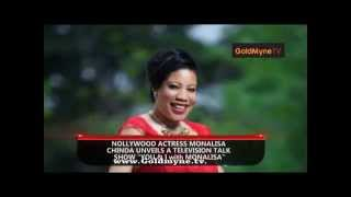 NOLLYWOOD ACTRESS MONALISA CHINDA UNVEILS A TELEVISION TALK SHOW