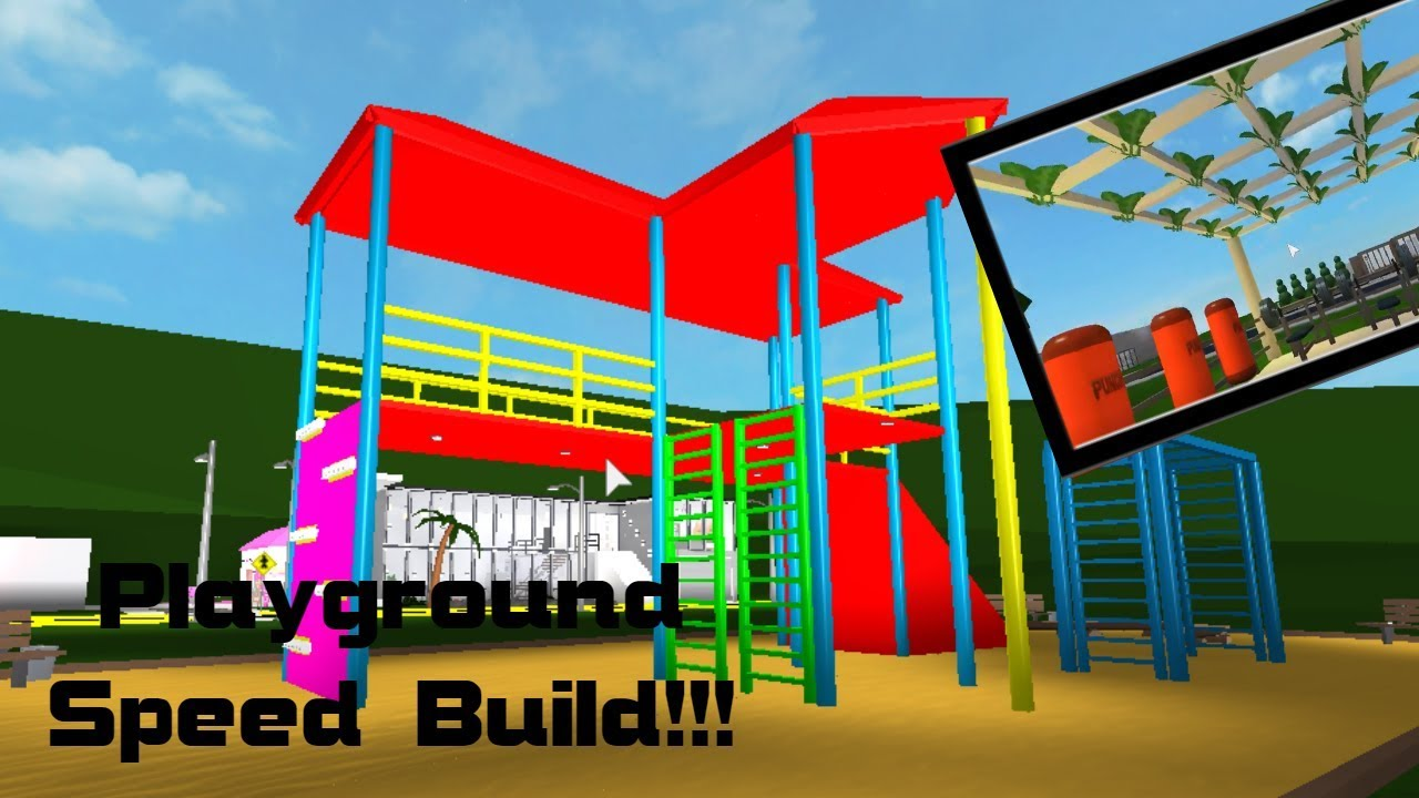 Welcome To Bloxburg Park Playground Speed Build Youtube