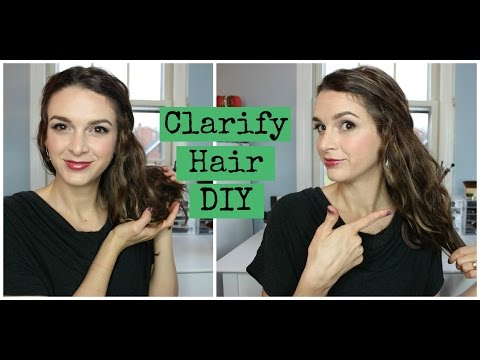 Squeaky Clean Hair! DIY Hair Clarifying Rinse