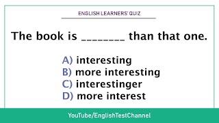 Quiz - Comparative and superlative adjectives