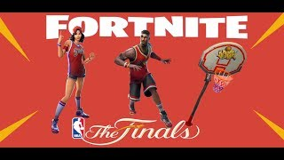 XBOX ONE Fortnite Battle Royale Squads. NBA Basketball Finals item shop skins and pick axe.
