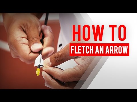 Archery 101: How to fletch an arrow (with spin vanes