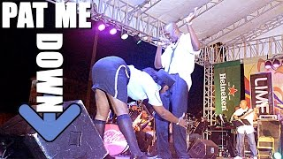 black diamound at semifinals: she PAT ME DOWN!! Dominica 2015 Calypso