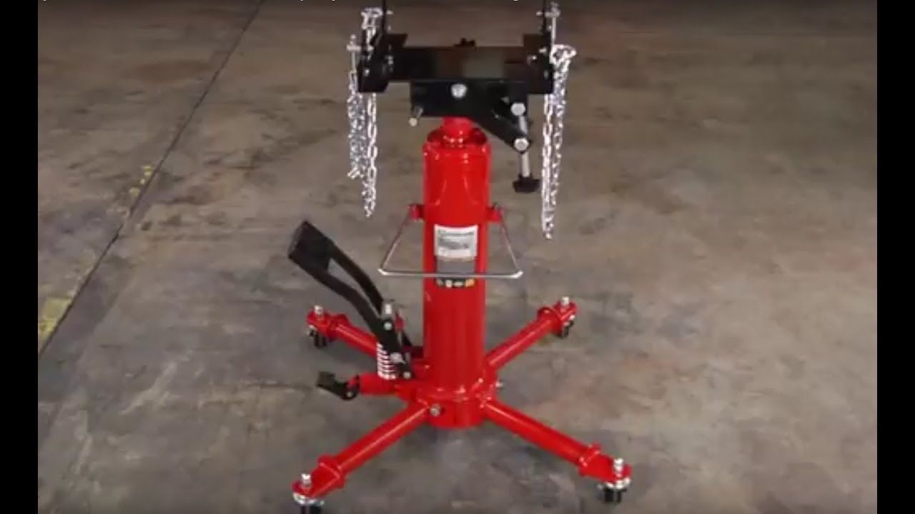 Strongway Hydraulic Transmission Jack - 1/2-Ton Capacity, 49 5/8in 68  3/4in  Lift Range