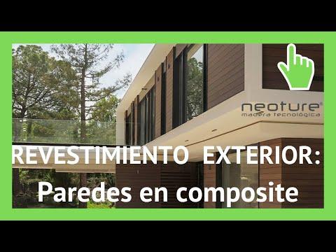Revestimiento pared exterior con paneles de madera sintetica youtube - Revestimiento madera paredes ...