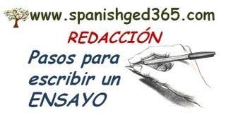 Pasos para escribir un ensayo - GED en Español