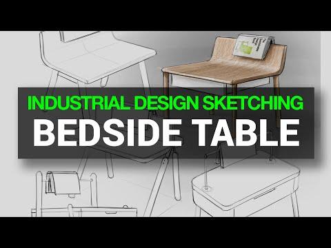 INDUSTRIAL & PRODUCT DESIGN SKETCHING : Ep. 31 - FURNITURE (Timelapse) #FurnitureSketch