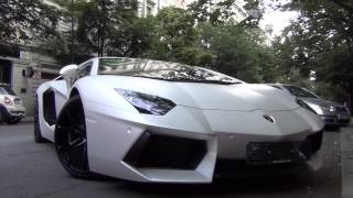 Matte white Lamborghini Aventador LP700-4 w/ Capristo exhaust start up, drive & walkaround