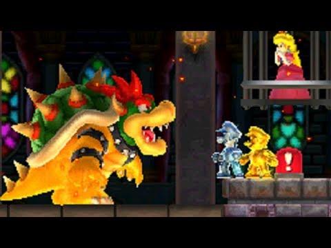 Gold Mario & Silver Luigi Vs. Bowser (Final Castle) - New Super Mario Bros. 2
