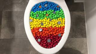 Will it Flush? - Rainbow M&M's and Coins