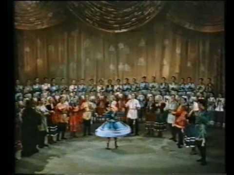 Russian Folk Dance. THE BEAR. Медведь. 1953