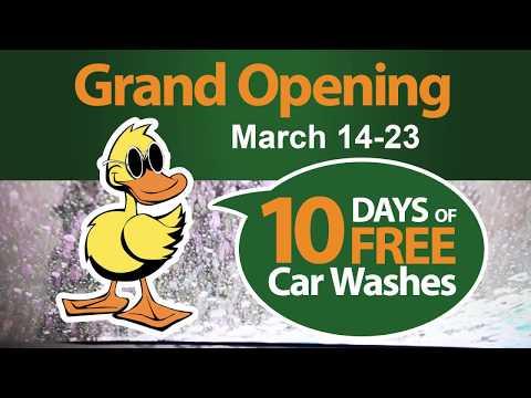 10 Days of Free Car Washes - Quick Quack Car Wash Mesa, AZ Grand Opening