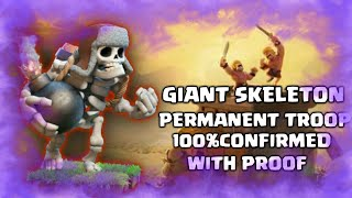 GIANT SKELETON IS PERMANENT TROOP 100 CONFIRMED WITH PROOF