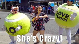 FORBIDDEN FOOTAGE?! A Day at the Australian Open!