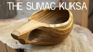 The Sumac Kuksa cup - Bushcraft carved wooden cup by Lotsofwoods.com