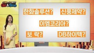 한화솔루션 신풍제약 이엠코리아 보락 DB하이텍 GO &…